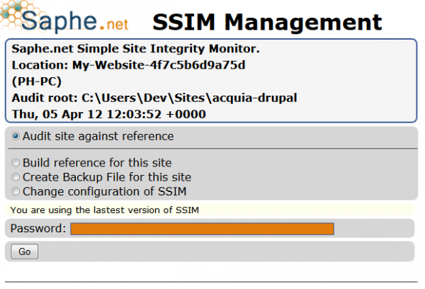 SSIM - Simple Site Integrity Checker
